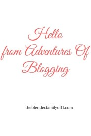 Hello from adventures of blogging